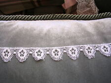 "Venise Lace Trim Bridal Edge 1"" Satin Craft Hats Quilts White/Ivory 3yds #EE8"