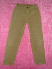 LIZ CLAIBORNE wmn 8 SOFT Army Green CORDUROYS High Waist TAPERED LEG JEANS 28x31