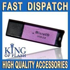 Usb Lector Para Tarjeta Micro Sd Púrpura-Soporta Hasta 32 Gb Micro Sd Hc Tarjeta