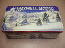 MAXWELL HOUSE HOLIDAY ROAST COLLECTIBLE CHRISTMAS TIN CAN BOX RECTANGLE 1997