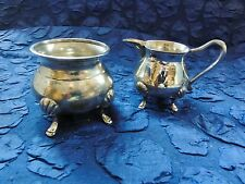 Barock-Stil No. 138 - Rahmservice: Zuckertopf - Rahmkännchen - Silber? (910