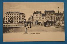Belgien AK Ostende Oostende 1900 Entree d Ville Hotel du Bassin + Couronne BE6