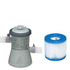 Intex Swimming Pool Cartridge Filter Pump + Filter Cartridge Replacement Type H
