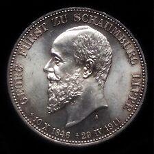 3 Mark Schaumburg Lippe 1911  Jg 166  Prachtexemplar   FSL 2