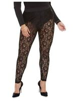 Fashion To Figure Women's Plus Size Camille Lace Leggings With Panty, Size 3X