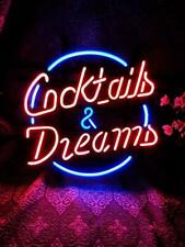 Fineon Dreams and Dream neon Light Sign 17�×13� bar Signs for Home Bedroom Garag
