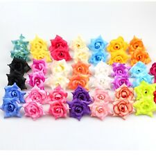 "50X Silk Artificial Rose Heads Flower Buds 2"" Flowers Wedding Home Party Decor"
