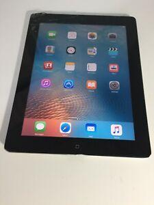 Apple iPad 2 9.7in 16GB Wi-Fi Tablet - Black Cracked #094