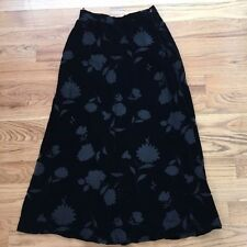 NWT JONES NEW YORK Black Velvet Floral Burnout Lined Silk Blend Skirt Sz 8 NEW