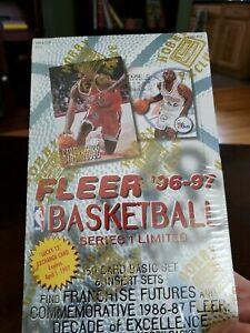 1996-97 Fleer Basketball Series 1 hobby Limited Sealed Box Kobe Iverson Nash PSA