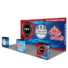 20ft Custom Fabric Pop Up Display Stand Sign Trade Show Booth Backdrop Wall