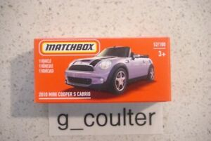 2021 MATCHBOX 2010 MINI COOPER S CABRIO POWER GRAB HERITAGE BOX 52/100 3+