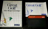 Great Golf Sega Master System SMS Game