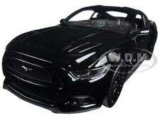 2015 FORD MUSTANG GT BLACK 1/24 DIECAST CAR MODEL BY WELLY 24062