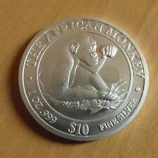 Somalia 10$ African Monkey 2002 silver 99.9% 1 oz