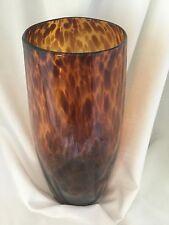 Large Empoli Glass Tartaruga Tortoiseshell Amber Vase                     *2360