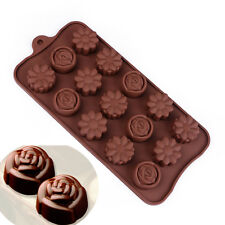 Silicone chocolate mold/cookies mold/3D Cute Flower shape cake decoration tools