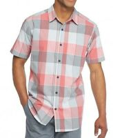 Columbia - Men's M NWT$45 Thompson Hill II Pink Check Plaid Cotton Pocket Shirt