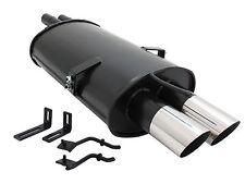 Novus escape deportiva silenciador 2x76mm bmw e46 320i/325i/330i/330d/330xd a3032e76s