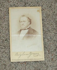 Real Photo of BRIGHAM YOUNG 1871 C R Savage   LDS Mormon Prophet   Utah