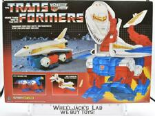 Sky Lynx Mib 100% Complete C 1986 Vintage Action Figure G1 Transformers