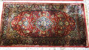 Wunderschöne Alte Ghoum Natur Seide Teppich  150x80 cm