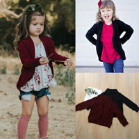 Autumn Toddler Baby Kid Girls Sweater Knit Warm Coat Cardigan Jacket Clothes Top