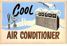 Vintage Cool air conditioner advertisement 50s 60s 70s The plug is skiing sign