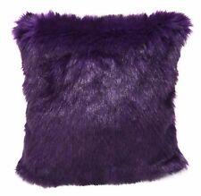 Fm734a Purple Faux Soft Thick Long Fur Cushion Cover/Pillow Case*Custom Size*