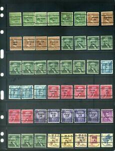 48 Piece US Precancel Coil Singles Collection TEN12