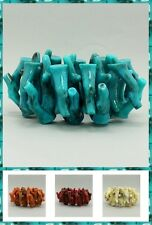 Chunky Coral Resin Stretch Bracelet Bangle Sea Life Nautical Statement Ocean NEW