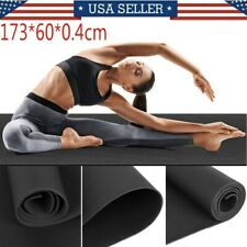 4mm Thick Yoga Mat Exercise Fitness Pilates Camping Gym Meditation Pad Non-Slip