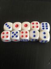 10 X 10mm Juego de Dados Juego de tablero reemplazo dados Backgammon