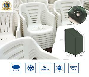 Yuzet Stacking Chair Cover Heavy Duty Green Strong Waterproof Outdoor Garden UK