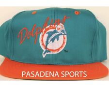 """VINTAGE 1980's """"AJD"""" MIAMI DOLPHINS SNAPBACK CAP NWT nfl moore suh tannehill"""