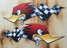 2er Retro Aufkleber Sticker Pick up Race Ratrod Auto Rod Oldschool Biker Tuning