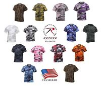 Camo T-Shirt Military Tee Short Sleeve Camouflage Army Tactical Uniform Tshirt