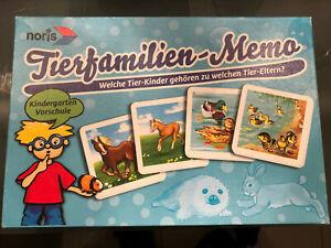 Tierfamilien-Memo Memory für Kinder ab 3 Jahre von noris. Sehr schöne Bilder