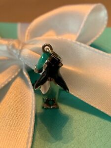 Tiffany & Co Enamel and sterling penguin charm