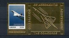 Liberia 2007 MNH Concorde 1v Gold Stamp Aviation Passenger Jet Planes Stamps