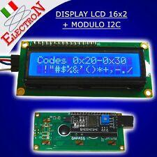 MODULO DISPLAY LCD 16X2 1602 RETROILLUMINATO + SERIALE I2C / IIC PER ARDUINO