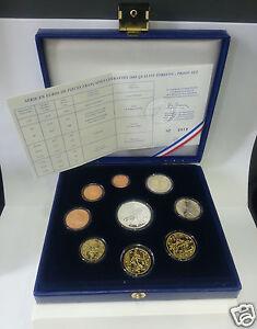 Frankreich Schachtel Official Be Probedruck 8 Münzen + Silber 2008 7,500 Copies