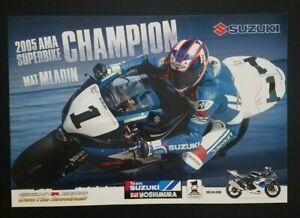 Vintage Original Matt Mladin Poster 2006 Yoshimura Suzuki GSX R1000 Superbike