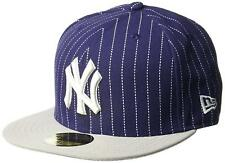 A01 Nueva era 59 fifty Gorra De Béisbol New York Yankees Azul Gris a Rayas Tallas Var