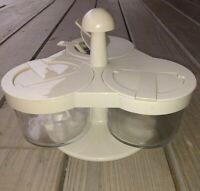 Vintage Gemco snack Serving swirling serving tray with spoon excellent condition
