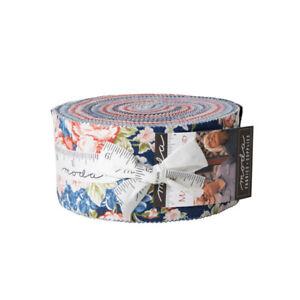 "Minick & Simpson Mackinac Island Moda Jelly Roll 42x 2.5"" Strips Quilting Cotton"