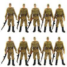 New Lot 10 Russian Soldiers Figure Indiana Jones Movie W/10Gun Accessory L05