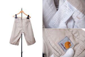 Men CARHARTT PRESENTER BERMUDA W28 Polyester Blend Zip Fly Chino Shorts