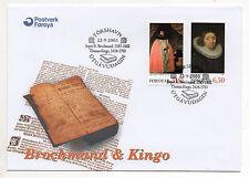 Islas Feroe = 2003 teólogos, SG459/460, set/2 en abordan FDC. (a)