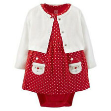 NWT Cute 3 Months Carters Just One You Santa Cardigan and Dress oufit